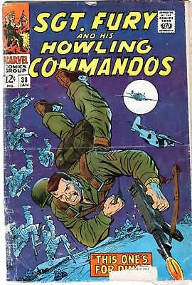 Sgt. Fury And His Howling Commandos #38 Silver Age!! Marvel Comics 1967