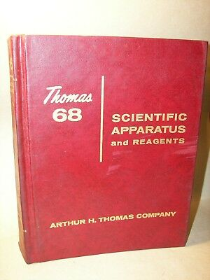 Thomas Scientific Apparatus Large Catalog Over 1,250 pages illustrated 1968
