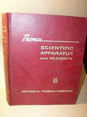Thomas Scientific Apparatus Large Catalog Over 1,000 pages illustrated 1965