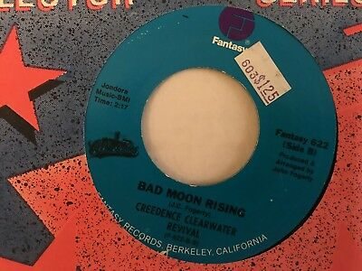 CREEDENCE CLEARWATER REVIVAL: Bad Moon Rising / Lodi VG++ Re-Issue