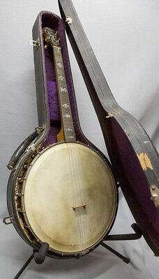 Orpheum No 1 4 string Tenor Banjo 1920 all original with OHS case