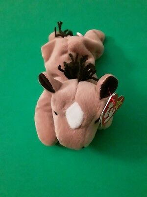 1995 TY Beanie Babies ~ Derby the horse with yarn mane & tail ~ Retired ~ MWMT