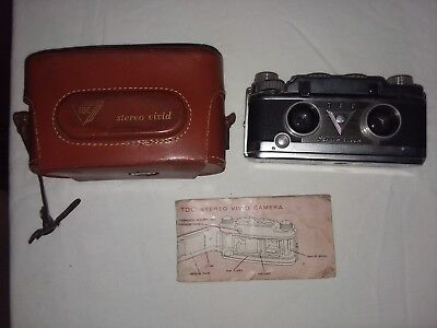 Vintage TDC Stereo Vivid Camera with Original Case