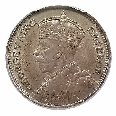 New Zealand 1933 Silver 6 Pence Scarce Date Choice MS 63 PCGS 1116-23