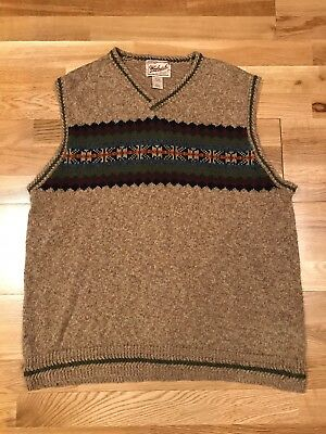 WOOLRICH Mens XL Sherpa Knitted Ranch Hiking Outdoors Beautiful Vest