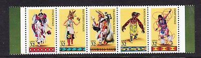 USA 1996 Indians Strip 5 MNH
