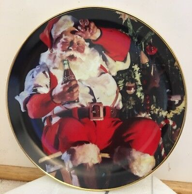 1994 Franklin Mint Coca Cola Santa Plate A Refreshing Pause Limited Edition