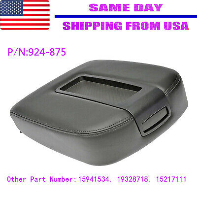 Leather Synthetic Armrest Center Console For Chevy Tahoe, Suburban 07-13 Black