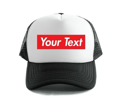 Custom Personalized Printed Print Red Box Trucker Hats Cap 210-C02