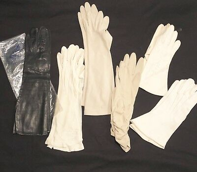 Lot of 6 Pairs Vintage Estate Ladies Woman's Gloves Long -ish Assortment