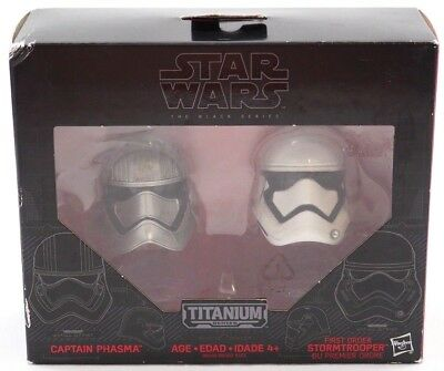 Stars Wars Black/Titanium Series Helmets  Captain Phasma 1st Ord Storm Trooper