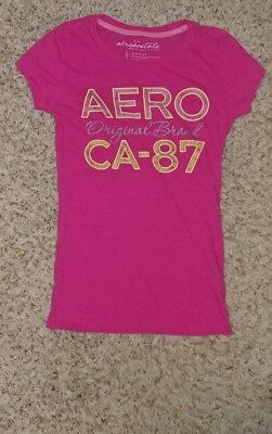 4717883f6 Aéropostale Womens Size Small Pink Crew Neck Short Sleeve Textured T-Shirt