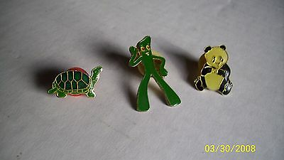 Vintage Cartoon Character Hat Lapel Pins