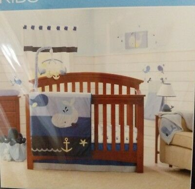 Nautica Kids Brody 4 Piece Crib Bedding Set Diaper Stacker New Free Shipping
