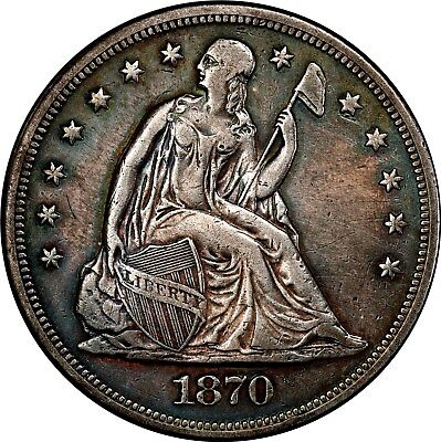 1870-Cc Seated Dollar **extremely Rare** *carson City* +++ Certified Pcgs-Au +++