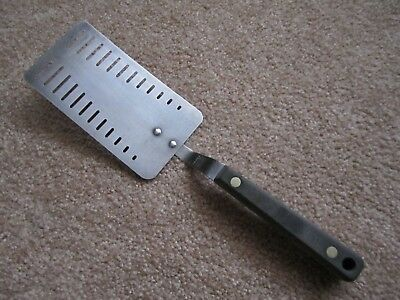 Vintage MAID OF HONOR stainless slotted spatula - turner - flipper, 11 1/4""