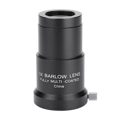 0.96inch/1.25inch Multi-coated 3X Barlow Lens for Astronomy Telescope Eyepiece