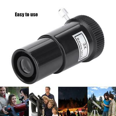 0.96inch/1.25inch 3X Magnification Barlow lens for Astronomy Eyepiece Telescope