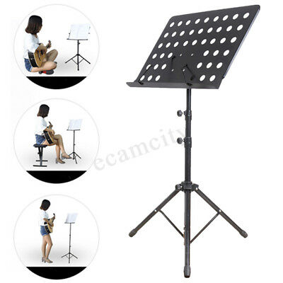 Adjustable Tripod Stand Metal Music Conductor Sheet Holder Folding Stage