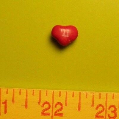 "Unique Red Heart Shaped 1/2"" Wide Plain M&m Candy Piece Valentine Fun Chocolate"