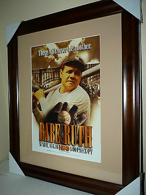 Very Rare Babe Ruth 11 x 16 HBO Special advertising stand up framed to 19 x 23