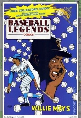 Baseball Legends Comics #8 Willie Mays (Three Full Color Willie Mays Cards) '92
