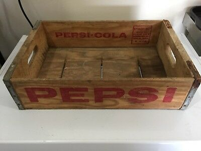 Vtg Wood Pepsi Crate Flour City Wooden Box Minneapolis, MN