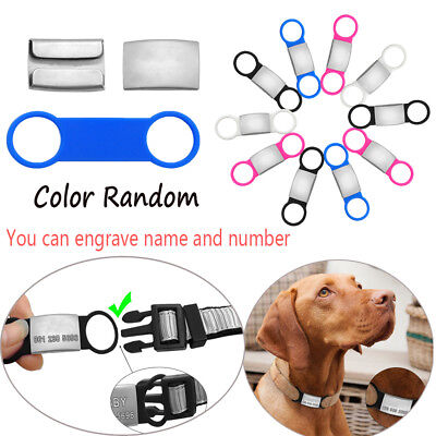 DIY Pendant Anti Lost Device Dog Cat ID Tag Pet Nameplate Puppy Protect