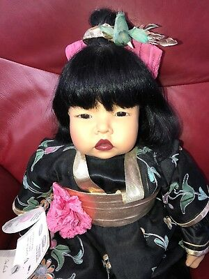 """21"""" MEI FONG DOLL BY CARIN LOSSNITZER -GOTZ DOLLS COMPANY With Tags"""