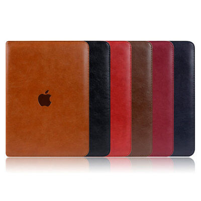 """Magnetic Genuine Luxury Leather Stand Smart Case Cover For New iPad 9.7"""" Air 1 2"""