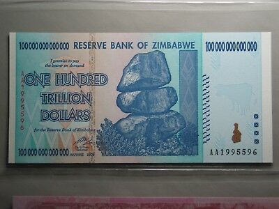 2008 100 One Hundred Trillion Dollars Reserve Bank Of Zimbabwe Gem Unc