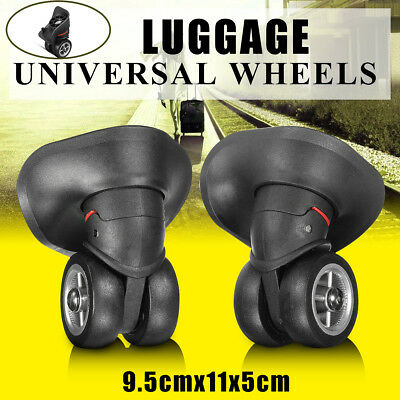 1 Pair Luggage Suitcase Wheels Replacement Trolley Travel Left & Right OD 5CM  /