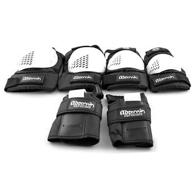 6 Piece Skate Protection Set in White from Adrenalin - Adult X-Large