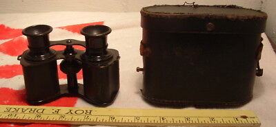 Antique French Binoculars Sportiere Paris High Power with Case