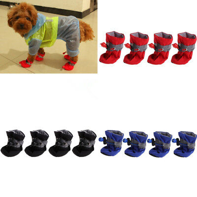 New Dogs Snow Boots D 'Water Shoes Small Dog Puppies Rubber Anti-slip Warm Shoes
