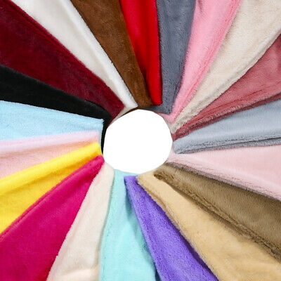 Faux Fur Fabric Material, Soft Cuddly Luxury Handle, 22 Plain Colours, Neotrims