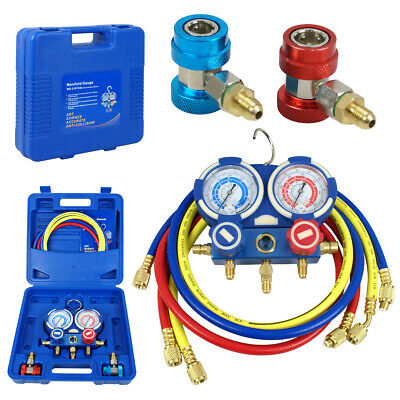 HVAC A/C Air Refrigeration Kit AC Manifold Gauge Set Brass R134A R410A R22