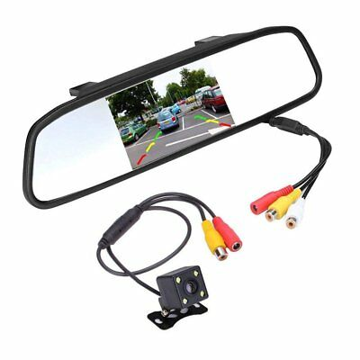 "Mini Car Reverse Parking Camera With 4.3"" TFT LCD Rear View Mirror Monitor Kit"