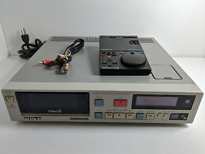Sony EVO-511 Video8 8mm VCR VTR Deck w/ remote, AV cable, Tested