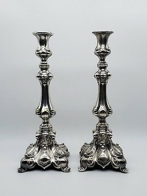 Exquisite 19Thc American Wilcox Silverplate Baroque Style Master Candlesticks
