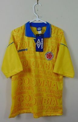 New Vintage Umbro Adult L Colombia World Cup Jersey Soccer Futbol Home FIFA  90s 1ea6c454f