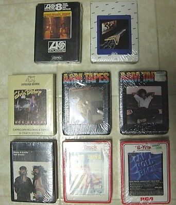 8 New Old Stock Sealed 8 Track Tapes Armatrading, Hot Tuna, PPL, More!