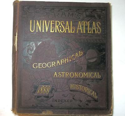 Cram's First Edition 1887 Universal Atlas Geographical Astronomical Historical