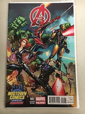 Avengers # 1 NM Marvel Midtown Comics NYC J. Scott Campbell Variant Cover