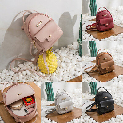 138345e57788 Fashion Women Girl Mini Faux Leather Backpack Rucksack School Bag Travel  Handbag