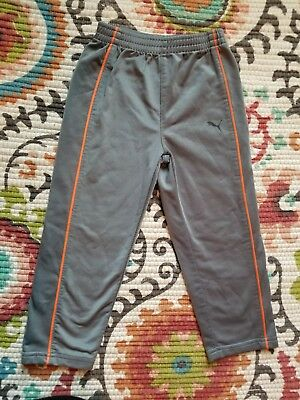 Puma Gray Orange Sweatpants 3T (Under Armour Nike adidas)