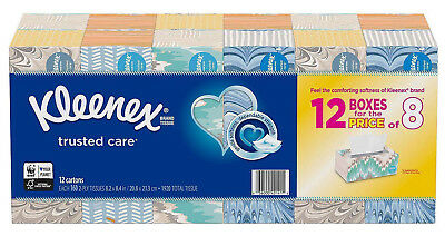 Kleenex Trusted Care Facial Tissue 2-ply 230 Per Pack,10 Boxes 2300 Tissues