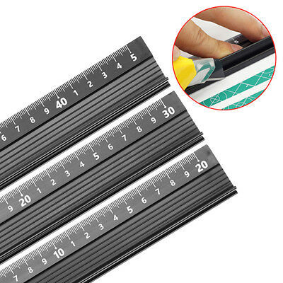 1PC Safety Ruler Aluminum Alloy 20/30/45cm Metal Cutting Rule Measuring Tools AU