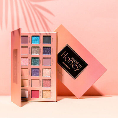 FOCALLURE 18 Colors Pearlized Eyeshadow Color Powder Eye Shadow Palette Set Kit