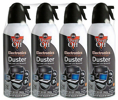 Falcon Dust-Off Compressed Air Compter Cleaner Keyboard Gas Duster 10oz 4 Pack